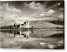 Kilchurn Castle Acrylic Print by Derek Croucher