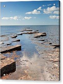 Kimmeridge Bay Seascape Acrylic Print by Matthew Gibson