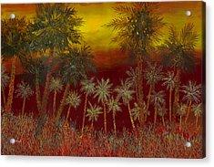 La Jungla Rossa Acrylic Print by Guido Borelli