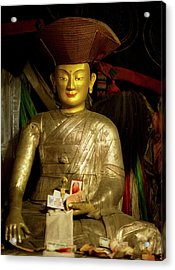 Ladakh, India The Interior Of The Hemis Acrylic Print by Jaina Mishra