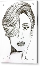 Lady Gaga Acrylic Print by Pati Photography