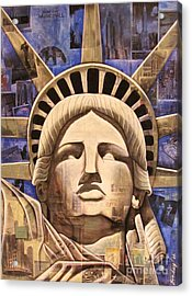 Lady Liberty Acrylic Print by Joseph Sonday