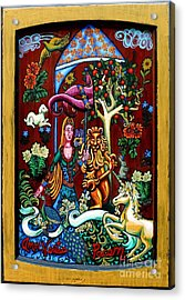 Lady Lion And Unicorn Acrylic Print by Genevieve Esson