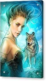 Lady Wolf Acrylic Print by Shannon Maer