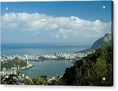 Lagoa Rodrigo De Freitas In Rio De Janeiro Acrylic Print by Celso Diniz