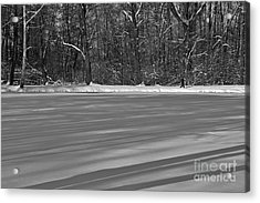 Lake Under Snow Acrylic Print