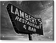 Lambert's Restaurant And Bar Acrylic Print by Andy Crawford