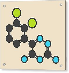 Lamotrigine Seizures Drug Molecule Acrylic Print by Molekuul