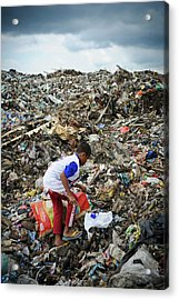 Landfill Scavenging Acrylic Print by Matthew Oldfield