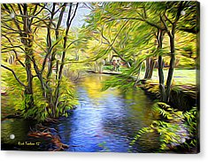Landscapislovelyanie Acrylic Print by Richard Trahan