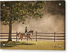 Acrylic Print featuring the photograph Last Ride Of The Day by Joan Davis
