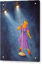 Latina Jazz Diva Acrylic Print by Pamela Allegretto