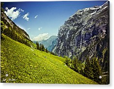 Acrylic Print featuring the photograph Lauterbrunnen Valley In Bloom by Jeff Goulden