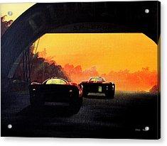 Le Mans Sunset Acrylic Print by Steve Jones