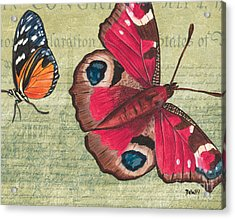 Le Papillon 1 Acrylic Print by Debbie DeWitt