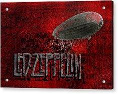 Led Zeppelin Acrylic Print by Jack Zulli