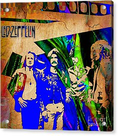 Led Zeppelin Painting Acrylic Print by Marvin Blaine
