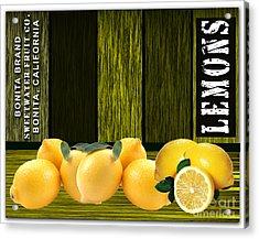 Lemon Farm Acrylic Print by Marvin Blaine