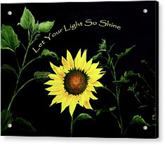 Let Your Light So Shine Acrylic Print by Jane Autry