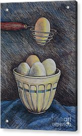 Lets Cook Acrylic Print by Linda Simon