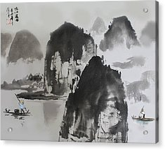 Acrylic Print featuring the photograph Li River by Yufeng Wang