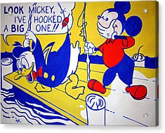 Lichtenstein's Look Mickey Acrylic Print