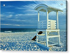 Lifeguard Hut On Beach Acrylic Print