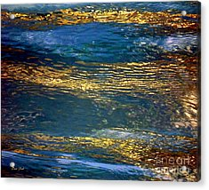 Acrylic Print featuring the digital art Light On Water by Dale   Ford