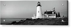 Lighthouse On The Coast, Pemaquid Point Acrylic Print