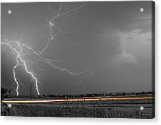 Lightning Thunderstorm Dragon Acrylic Print by James BO  Insogna