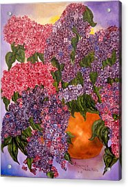 Lilacs Galore Acrylic Print by Annamarie Sidella-Felts