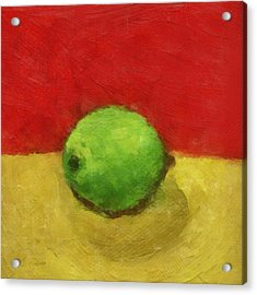 Lime With Red And Gold Acrylic Print