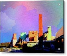 Lincoln Skyline Acrylic Print