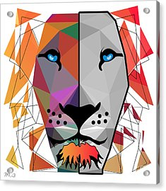 Lion Acrylic Print by Mark Ashkenazi