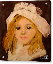 Little Girl Acrylic Print by Joseph Hawkins