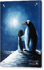 Little Penguin Fairy By Shawna Erback Acrylic Print by Shawna Erback