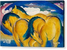 Little Yellow Horses Acrylic Print by Franz Marc