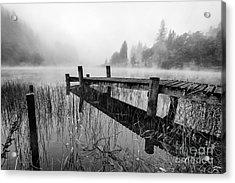 Loch Ard Early Mist Acrylic Print by John Farnan