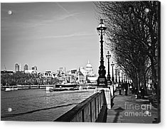 London View From South Bank Acrylic Print by Elena Elisseeva