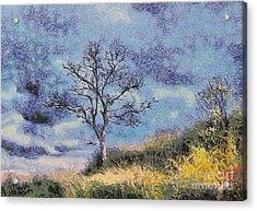 Lonely Tree Acrylic Print by Odon Czintos