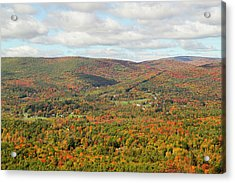 Looking Out Over The Autumn Landscape Acrylic Print by Susan Pease
