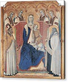 Lorenzetti Pietro, Carmine Altarpiece Acrylic Print by Everett