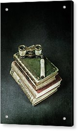 Lorgnette With Books Acrylic Print by Joana Kruse