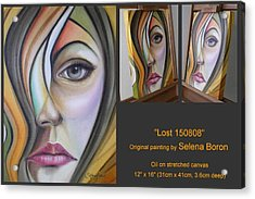 Acrylic Print featuring the painting Lost 150808 by Selena Boron