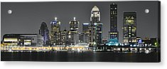 Louisville Lights Acrylic Print by Frozen in Time Fine Art Photography