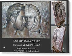 Acrylic Print featuring the painting Love Is In The Air 260709 by Selena Boron