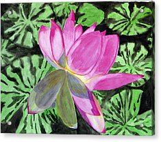 Acrylic Print featuring the painting Lovely Lily by Debi Singer