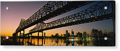 Low Angle View Of A Bridge Acrylic Print by Panoramic Images