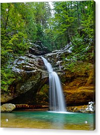 Lower Falls At Old Man's Cave Acrylic Print