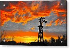 Lubbock Skyline Acrylic Print by GCannon